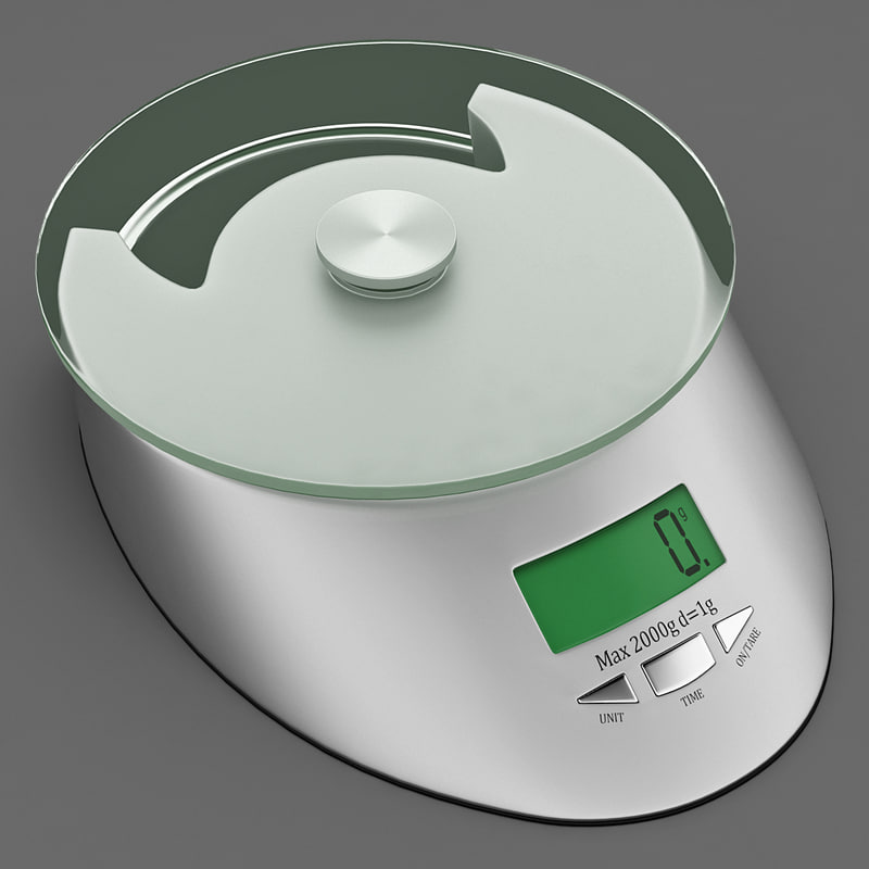 kitchen digital scales 3 3d model