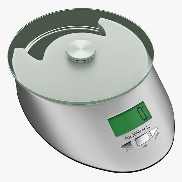 kitchen digital scales 3 3d model