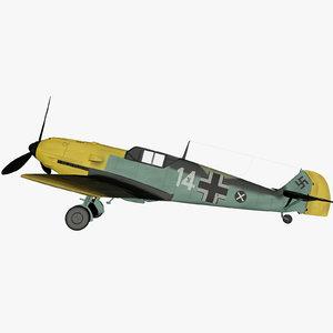 3d max world war messerschmitt me109e