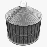 realistic steel silos 3d max