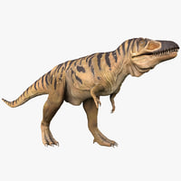 3d tarbosaurus pose 1 model