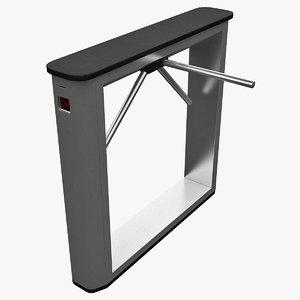 realistic turnstile 2 3d model