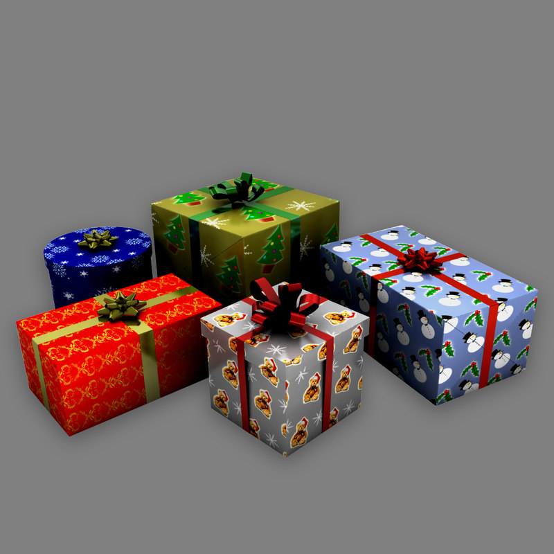 3d gifts christmas model