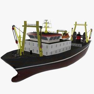 fishing ship las palmas 3d model