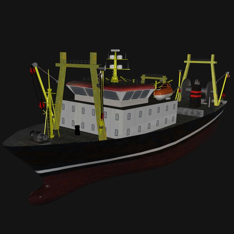 fishing ship las palmas 3d model