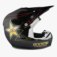 3d model shark helmet rockstar
