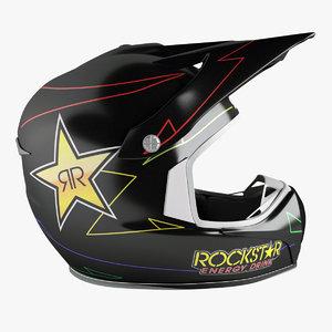 3d model shark helmet rockstar