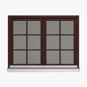 double window 3d model