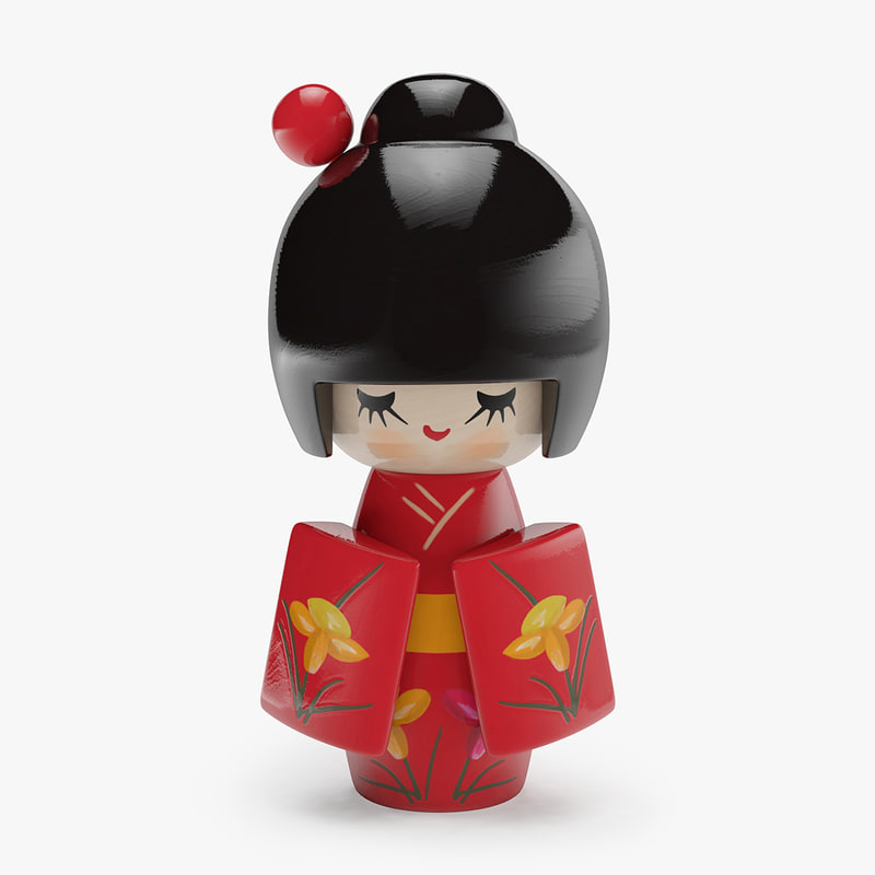 japanese wooden doll 3ds