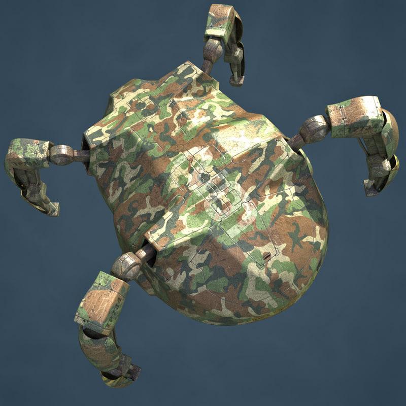 robot military 3d model