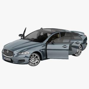xj rigged car 3d model