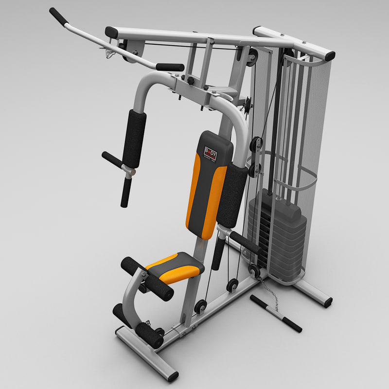 realistic multi gym 3 3d model