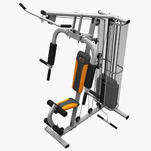 realistic multi gym 3 3d model