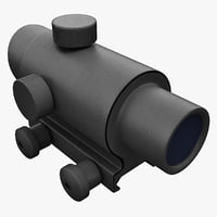 3d optical gunsight acog model