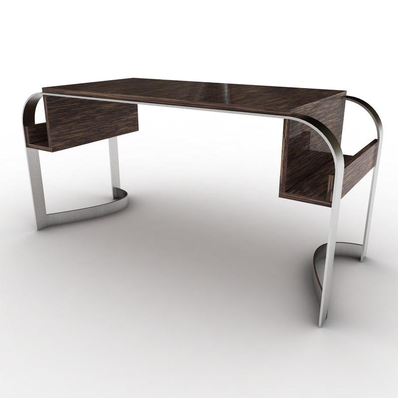 3d model palm wood desk