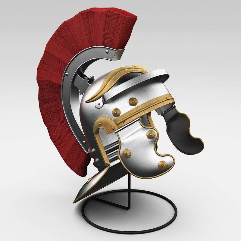 3d rome helmet model