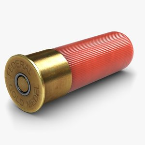 shotgun shell 1 3d model