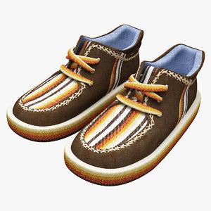 3d model shoes modeled