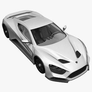 3ds max realistic supercar zenvo st1