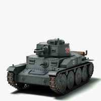 3d model ww2 german panzer 38