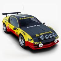 Renault Alpine A310 Rally Car