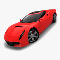 3d model of generic motors sport coupe