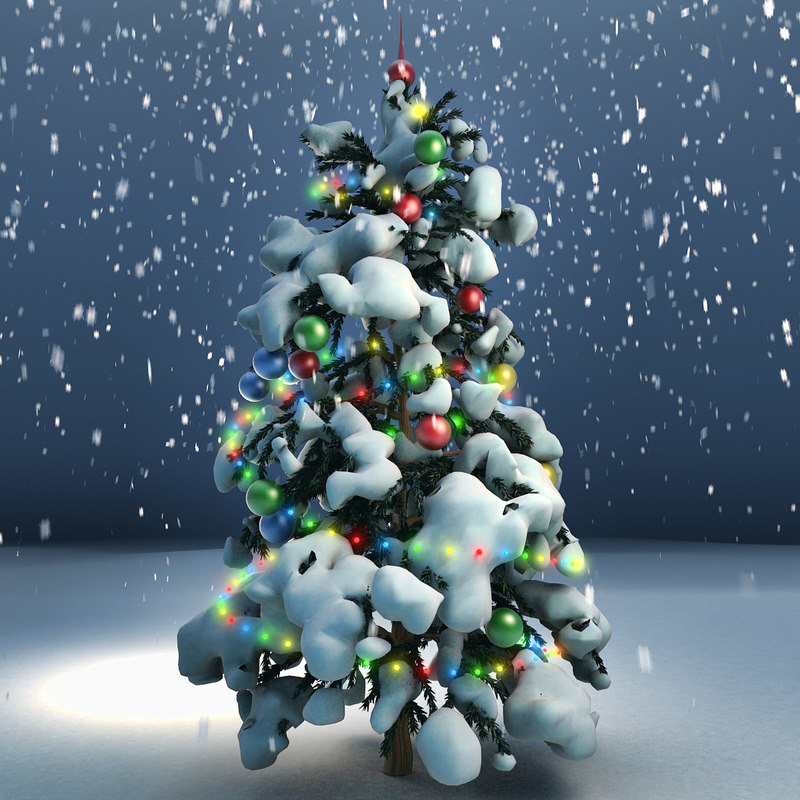 3d model fir tree christmas decorations