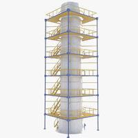 3d industrial tower model