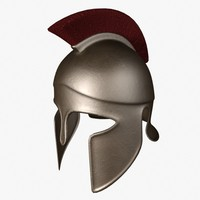3ds greek corinthian helmet