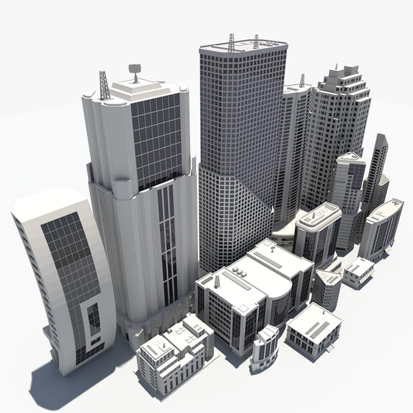 3ds 15 buildings office