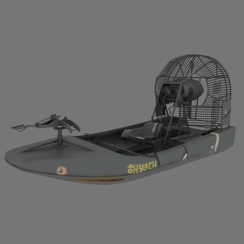 vietnam war airboat relic 3d model