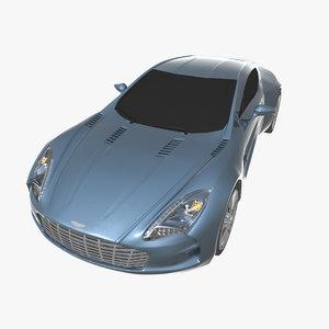 aston martin car 3d max