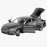 audi s7 2013 rigged 3d max