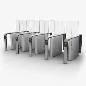 3d model entrance security -