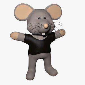 cartoon mouse 3d model