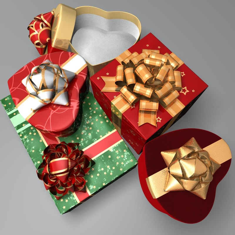 3d gifts boxes