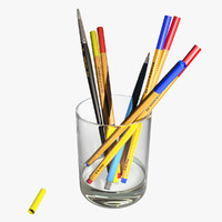 Glass with Pencils
