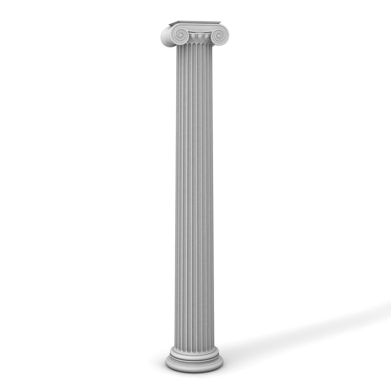 ionic column 3d 3ds