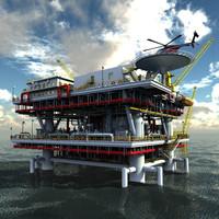 3d model oil rig peak -