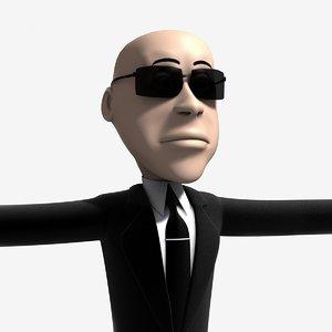 3d jimmy cartoon character agent