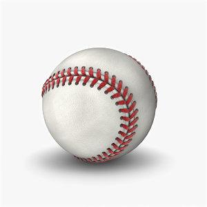 3d modeled baseball model