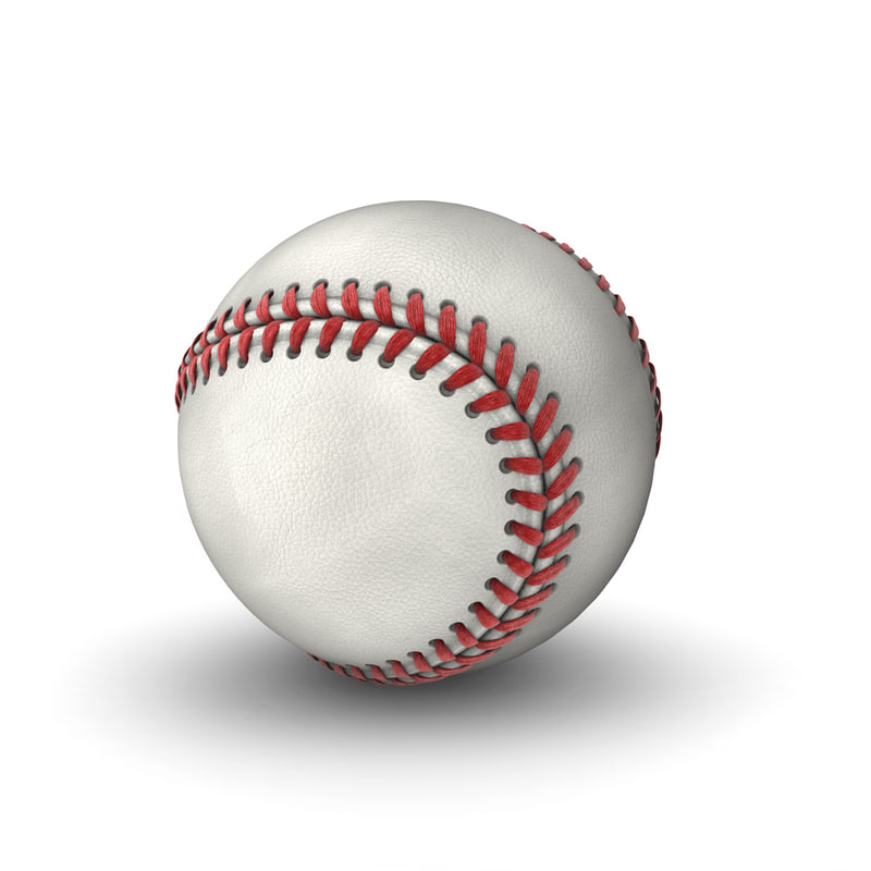 3d modeled baseball model