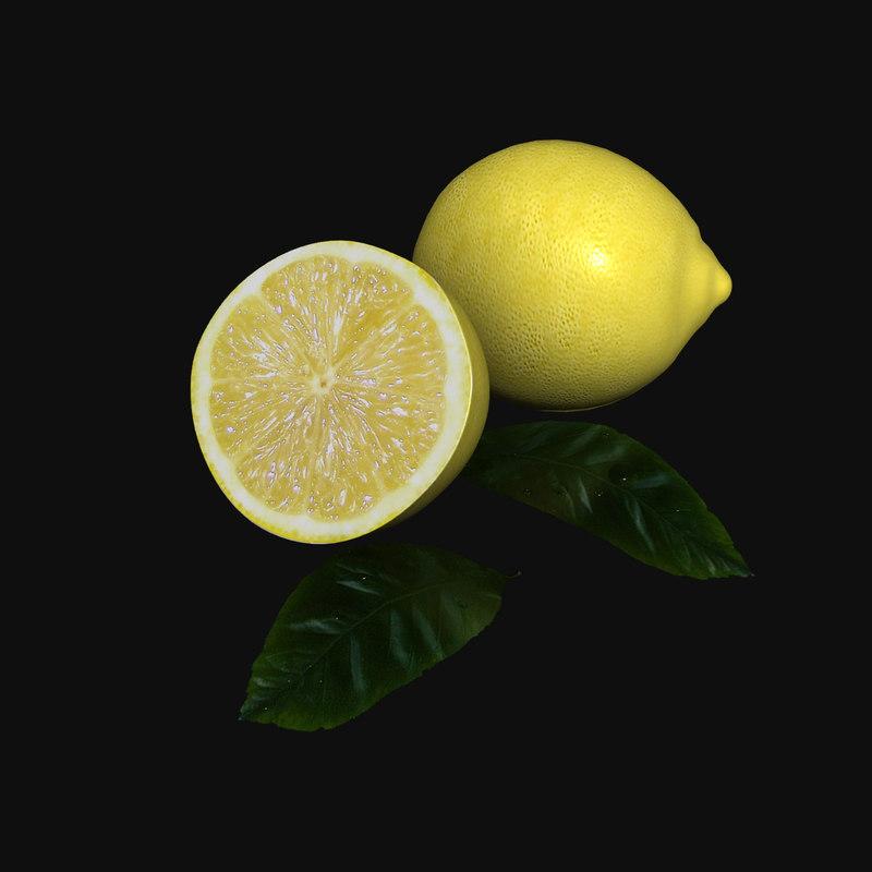 3ds max lemon citrus limonum