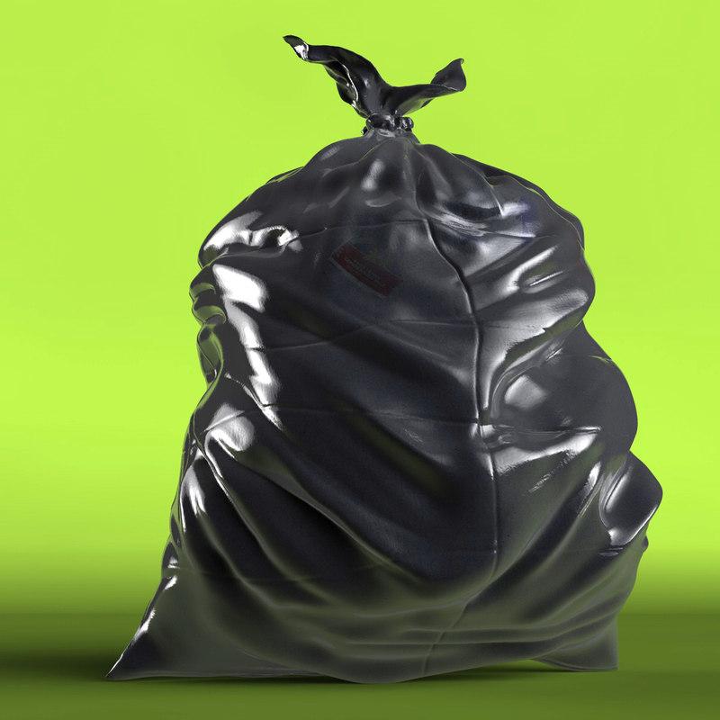 trash bag 3d model