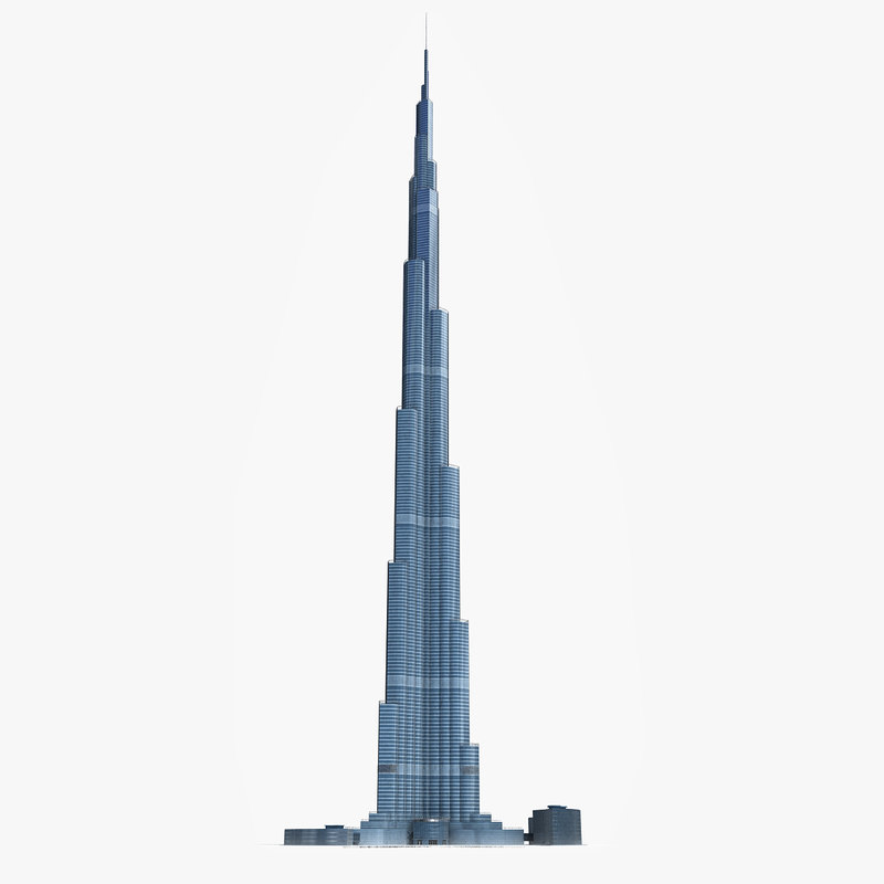 3d dubai tower skyscraper model