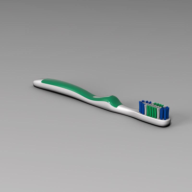 3d model toothbrush orthodontics dental