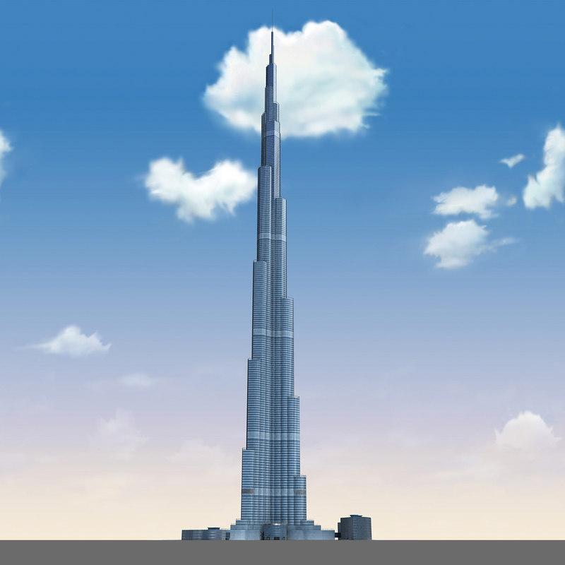 3d dubai tower skyscraper model