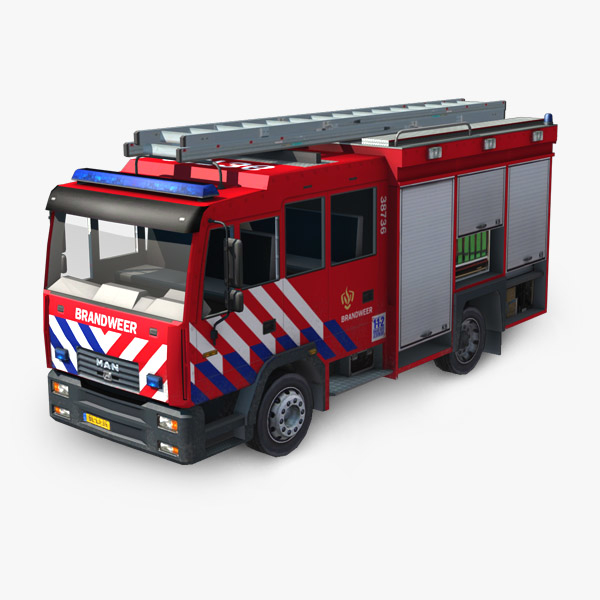 3d truck simulation real model
