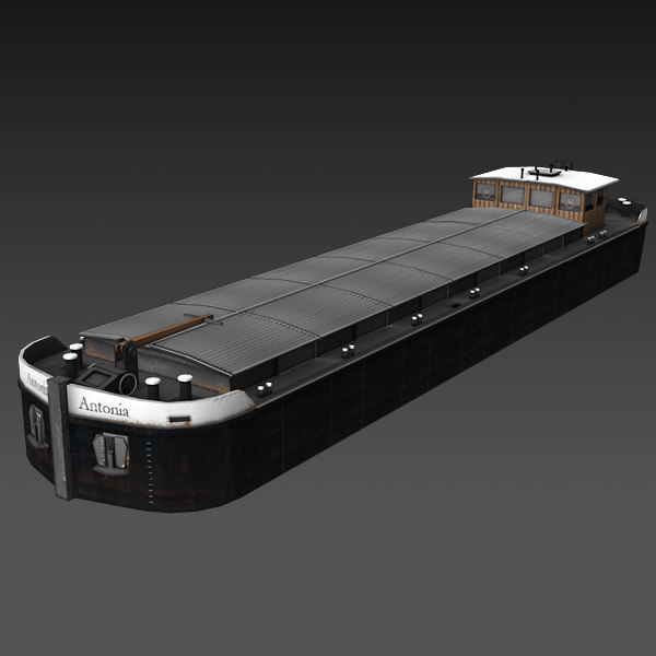 3ds barge ship