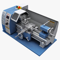desktop lathe bm 180v 3d model
